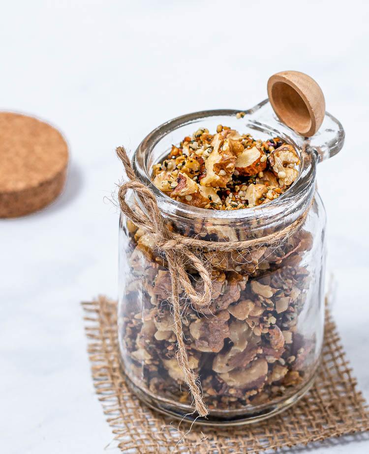 Honey Roasted Walnuts and Hempseeds